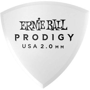 Ernie Ball Ernie Ball - 6 Pack Prodigy Picks - White Large Shield - 2mm