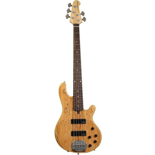 Lakland Lakland - Skyline 55-01 - Deluxe Spalted with Maple Fretboard - Black Hardware
