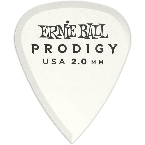 Ernie Ball Ernie Ball - 6 Pack Prodigy Picks - White Standard - 2mm