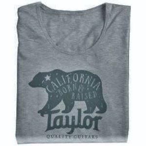 Taylor Guitars Taylor - T-Shirt - CA Bear Heather -Woman - Grey