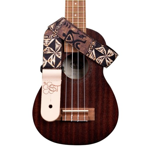 Kala Music Kala - Ukulele Nylon Strap -  Handmade in USA - Brown Tapa