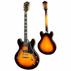 Eastman Strings Eastman - T486 Thinline - w/ Hardshell Case - Sunburst