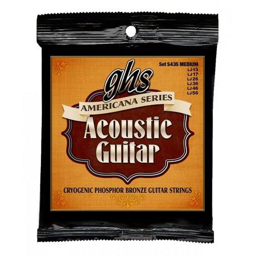 GHS GHS - S435 Americana Series - Bronze Medium - Acoustic Guitar Strings - 13 - 56