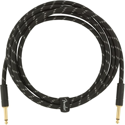 Fender Fender - Deluxe - Instrument Cable - 10'ft - ST/ST - Black Tweed