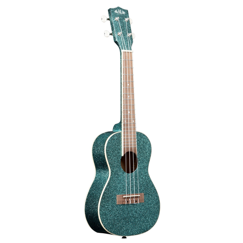 Kala Music Kala - Sparkle Series - Concert - Acoustic Ukulele - Aquamarine