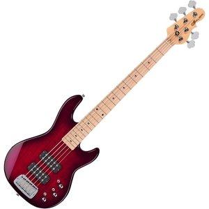G&L G&L - Tribute - L2500 - 5 String  - Maple Neck - Redburst