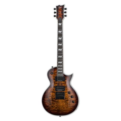 LTD - ESP Guitars LTD -  EC-1000 Evertune - Deluxe Series - Electric Guitar - Quilted Maple -  Dark Brown Sunburst