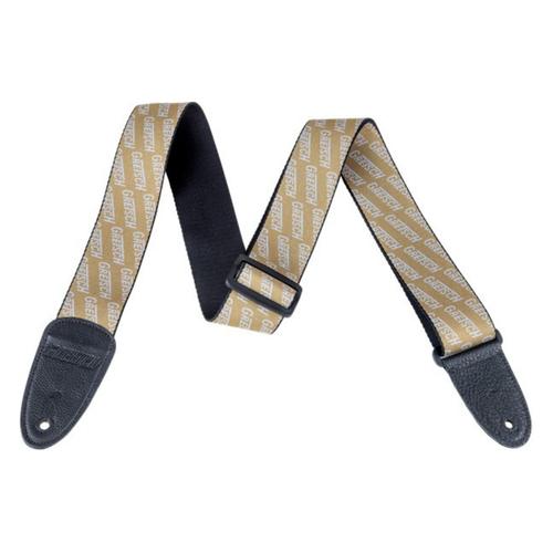 Gretsch Gretsch - Gretsch Logo Guitar Strap - Gold and White
