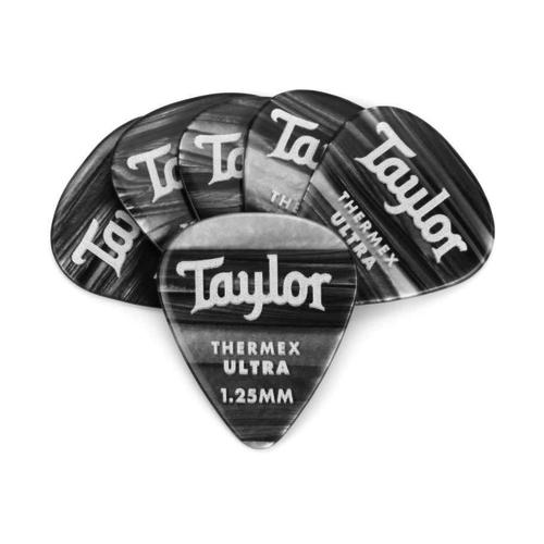 Taylor Guitars Taylor  - Premium Darktone 351 - Thermex Ultra Guitar Pick - 1.25mm - 6 PACK - Black Onyx