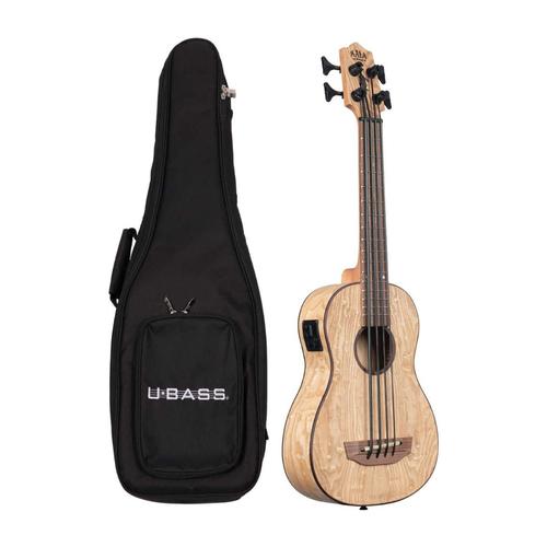 Kala Music Kala - U-Bass - Burl Ash - Acoustic Electric with gig bag