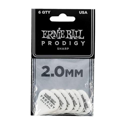 Ernie Ball Ernie Ball - 6 Pack Prodigy Picks - White Sharp - 2mm