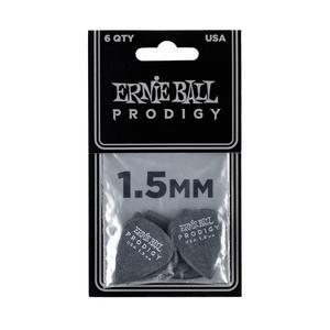 Ernie Ball Ernie Ball - 6 Pack Prodigy Picks - Black Standard - 1.5mm