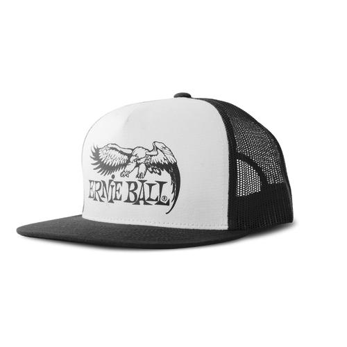 Ernie Ball Ernie Ball - Eagle Logo Hat - White with Black Logo