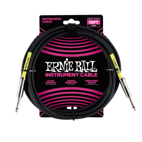 Ernie Ball Ernie Ball -  Instrument Cable - 10ft - ST/ST - Black