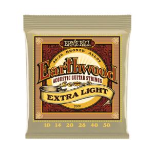 Ernie Ball Ernie Ball - Earthwood  Extra Light - 80/20 Bronze - 10-50