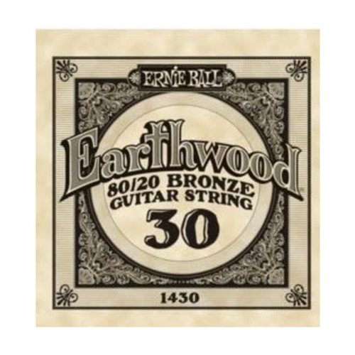 Ernie Ball Ernie Ball -  Earthwood 80/20 Bronze -  Single String - .30