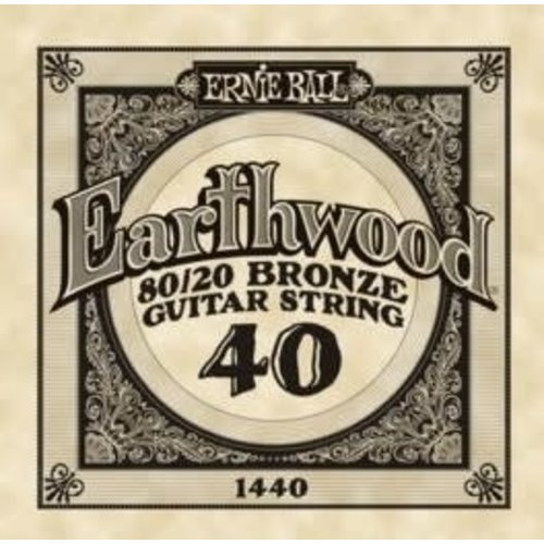 Ernie Ball Ernie Ball -  Earthwood 80/20 Bronze -  Single String - .40
