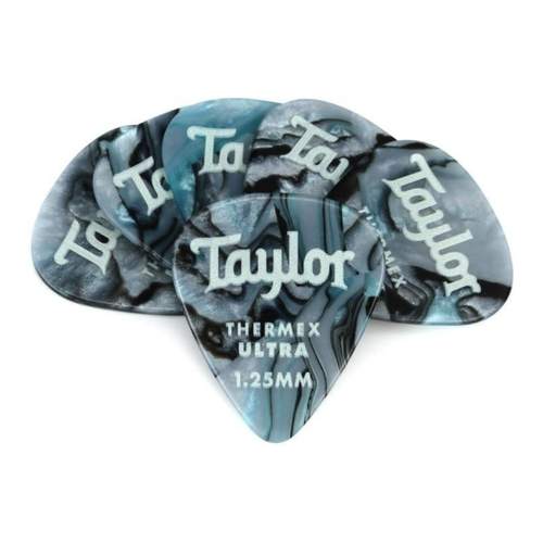 Taylor Guitars Taylor  - Premium Darktone 351 - Thermex Ultra Guitar Pick - 1.25mm - 6 PACK - Abalone