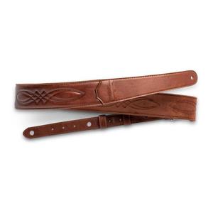 "Taylor Guitars Taylor - Vegan Leather Strap - 2.0"" - Embossed Logo - Medium Brown w/Stitching"
