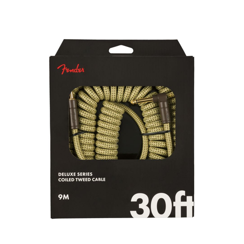Fender Fender - Deluxe Coil - Instrument Cable - 30'ft - RA/ST - Tweed