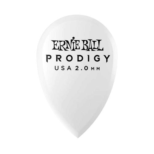 Ernie Ball Ernie Ball - 6 Pack Prodigy Picks - White Teardrop - 2mm