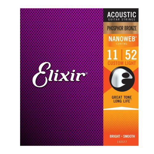 Elixir Elixir - Acoustic Phosphor Bronze - Custom Light Strings - 11-52