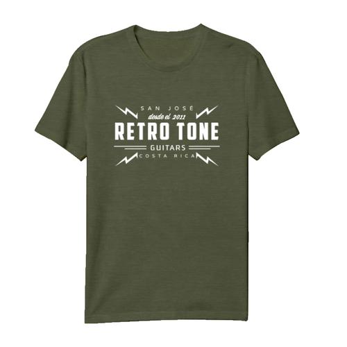 Retro Tone Guitars - T-Shirt - Green Military