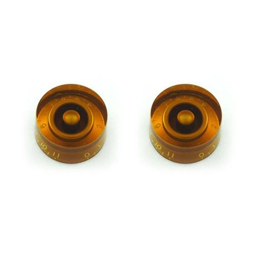 Allparts Allparts - Knob Speed Amber (0-11) - Set of  2