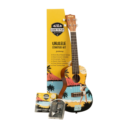 Kala Music Kala - Learn to Play - Elvis Blue Hawaii - Concert Acoustic Ukulele