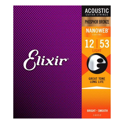 Elixir Elixir - Acoustic Phosphor Bronze - Light Strings - 12-53