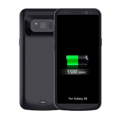 purchase cheap 9fa9e 551b7 Galaxy S8 5000mAH Extended Battery Case Black With Type C Charge ...
