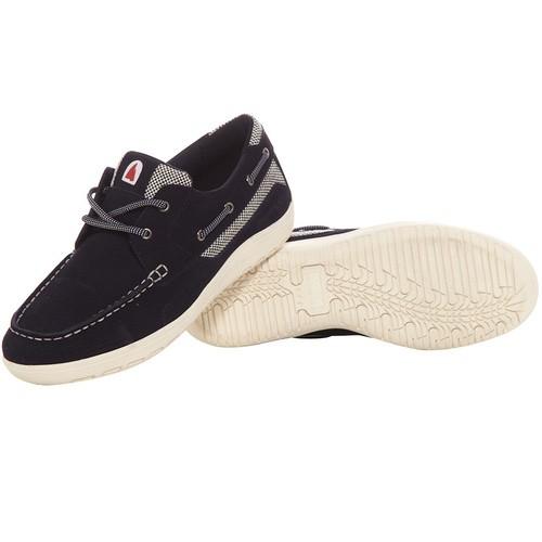 Burke Evolution Suede Boat Shoe - Navy