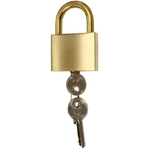 R W Basham Brass Marine Padlock - Standard Shackle - 70mm