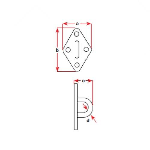 BLA Pad Eye - Stainless Steel QTY: 1