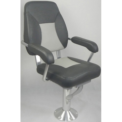 Mini-Mojo Deluxe Helm Seat - Charcoal With Mid Grey Contrast | Single Seats