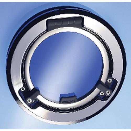 Lewmar Portlight - Round Stainless Steel - Opening