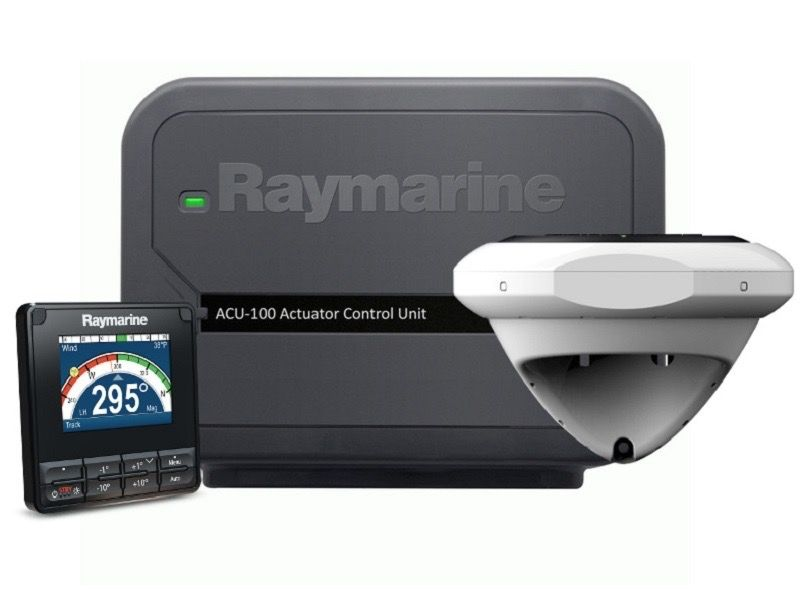 Raymarine Evolution Autopilot with p70s control head & ACU-100, EV1 Sensor Core, EV1 Cabling kit (suitable for 0.5l Hydraulic, Wheel & Tillerdrives)