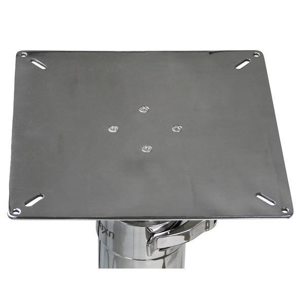 Relaxn Table Pedestal - 2 Stage -  Stainless Steel - 420 to 710mm Height