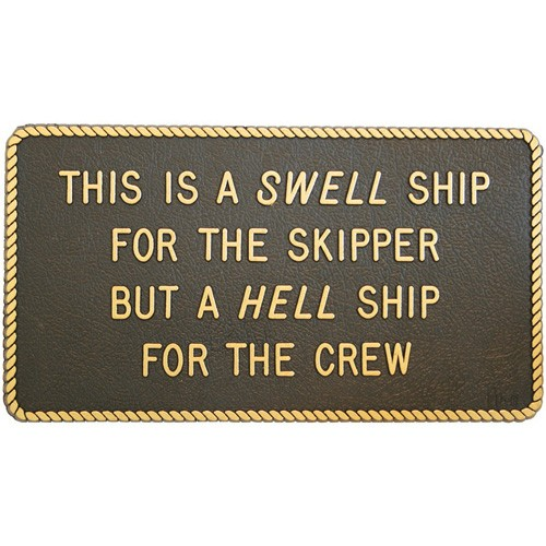 """/""""A Swell Ship/"""" Boating /& Marine Plaque Signage"""
