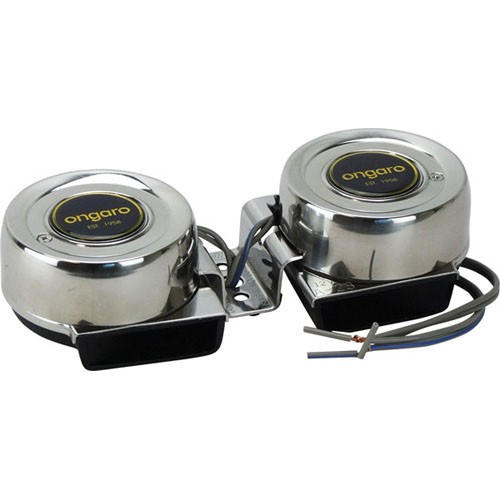 Ongaro 12V Dual Mini Compact All S/S Horn