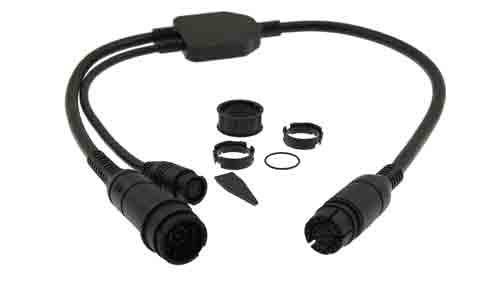 Raymarine Adaptor Cable (25 pin to 25 pin and 7 pin Y-Cable) attach RealVision & embedded 600W Airmar transducers to AXIOM RV