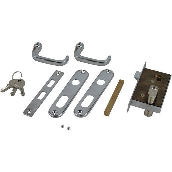 Sam Allen S/S/Brass Door Set With Lock