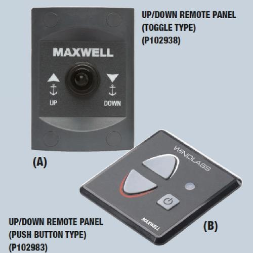 Control P102938 Maxwell Remote Up /& Down Windlass Anchor Switch
