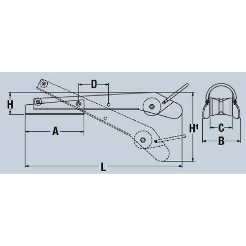 Maxwell Extendable Self-Launching Hinged Bow roller