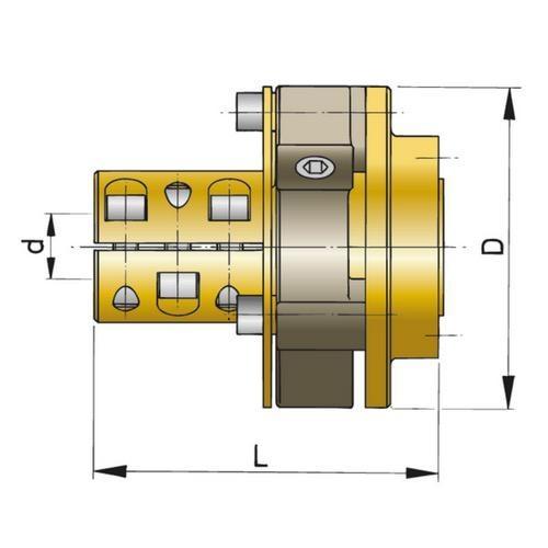 """Vetus Type BULLFLEX 16 For Shaft Size Imperial Dia: 1 3/4"""""""