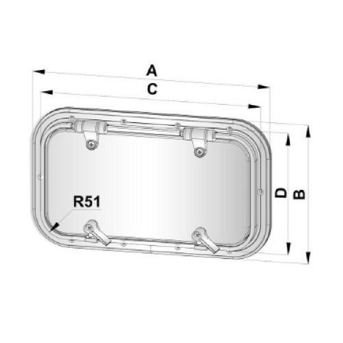 Vetus Aluminium Porthole - Type PZ (AIII)
