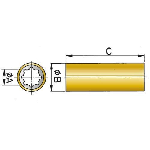 Vetus Rubber Bearing Brass Shell Type RULAG