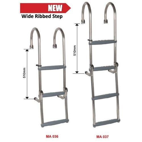 Oceansouth Gunwale Ladder - Stainless Steel