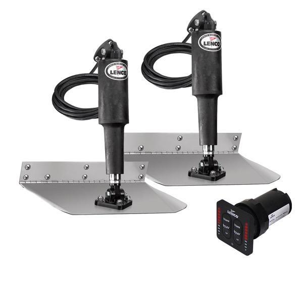 "Lenco 9"" x 9"" Standard Mount Trim Tab & LED Indicator Switch Kit"