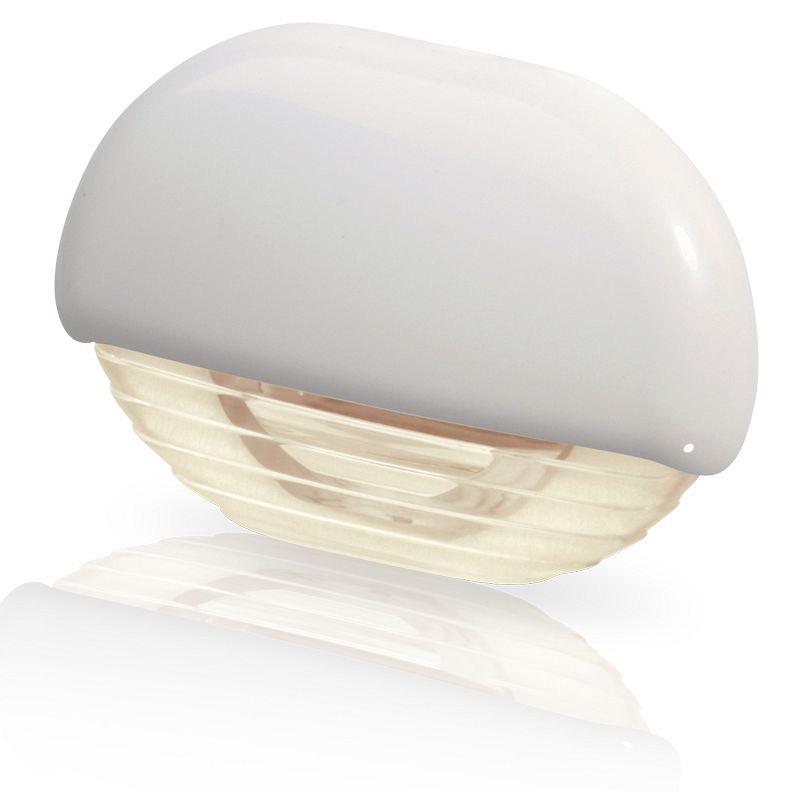 Hella Warm White LED Easy Fit Step Lamp - 12-24V DC - White Plastic Cap